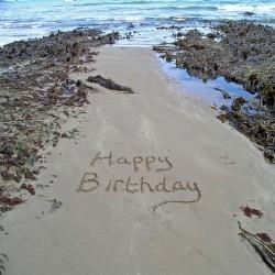 Ansichtkaart Happy Birthday - SeaShore
