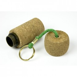 Floating keychain cork with safe