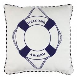 Kissen mit Rettungsring - Welcome a board