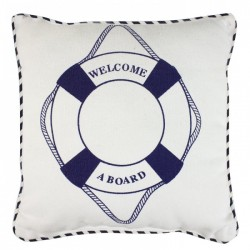 Pillow with lifebuoy - Welcome a board