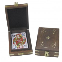 Playing cards in box
