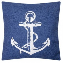 Cushion with Anchor Detailing - Denim style