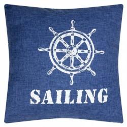 """Cushion """"Sailing"""" - Denim style"""