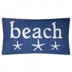 "Kissen ""Beach"" - 50 x 30 cm - Denim style"