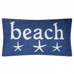 "Pillow ""Beach"" - 50 x 30 cm - Denim style"
