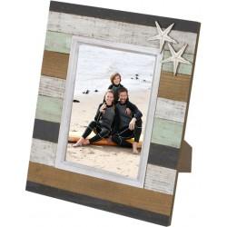 Cadre photo en bois de style planche