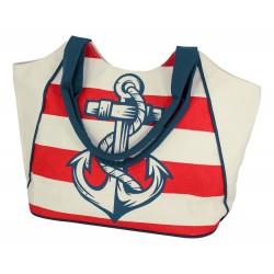 Beach bag blue/white anchor