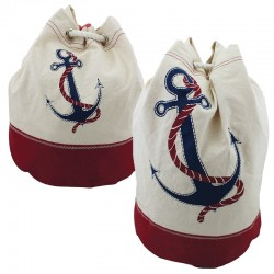 Backpack cotton with anchor
