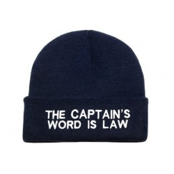 Beanie Navy - The Captain's Word is Law