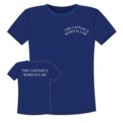 T-shirt Navy - Captain's Word is Law
