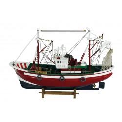 Bateau de pêche rouge