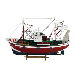 Fishing boat red