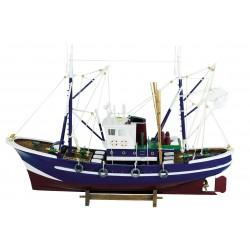 Bateau de pêche bleu