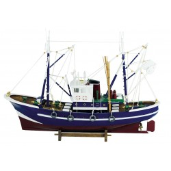 Vissersboot blauw