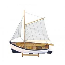 Vissersboot met zeilen