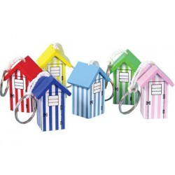 Keychain wood Beach House (6 assorted)