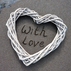 Postcard Sand - With Love