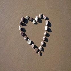 Postkarte Sand - Heart