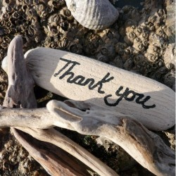 Postcard Sand - Thank You