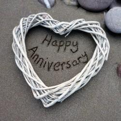 Ansichtkaart Sand - Happy Anniversary