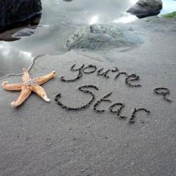Ansichtkaart Sand - You're A Star