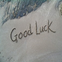 Postkarte Sand - Good Luck