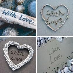 Ansichtkaart Sand - With Love