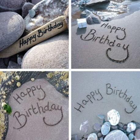 Ansichtkaart Sand - Happy Birthday