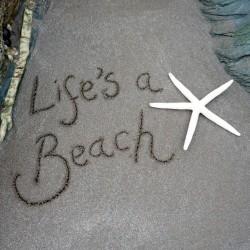 Ansichtkaart Sand - Life's a beach