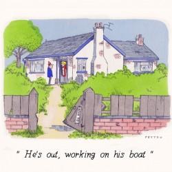 Carte postale - He's out...