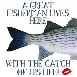 Ansichtkaart Fishy Tales - A great fisherman...