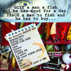 Ansichtkaart Fishy Tales - Give a man...