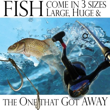 Ansichtkaart Fishy Tales - Fish come in...