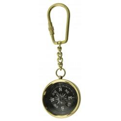 Sleutelhanger messing kompas