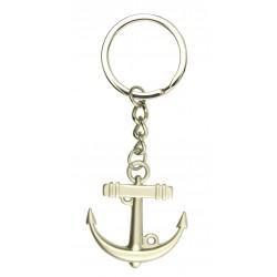 Keychain chrome with anchor gemstone