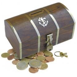 Money box treasure chest with lock
