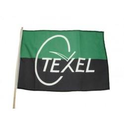 Vlag Texel op stok