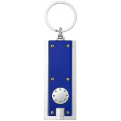 Sleutelhanger blauw/grijs LED lamp