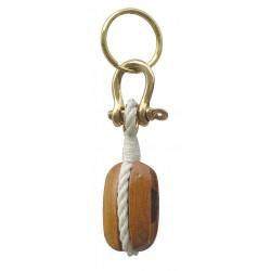 Schlüsselanhänger Holz-block
