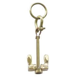 Schlüsselanhänger Messing großes Falt Anker