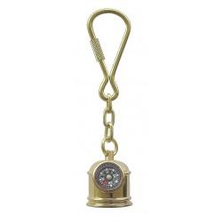 Schlüsselanhänger Messing Kompass
