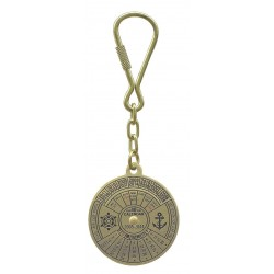 Keychain brass 40 years calendar