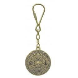 Schlüsselanhänger Messing 40 Jahre Kalender