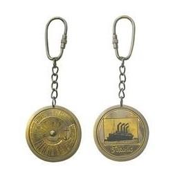 Titanic - keychain brass antique look 40 years calendar