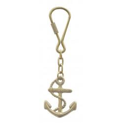 Keychain brass anchor