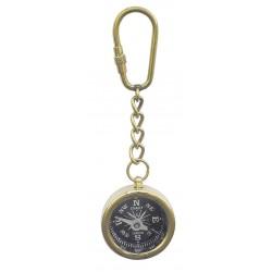 Schlüsselbund messing Kompass