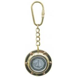 Porte-clés hublot en laiton pour photo