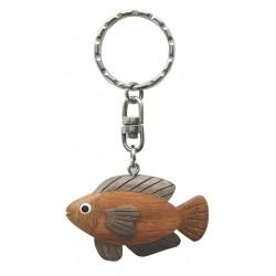 Keychain wood fish