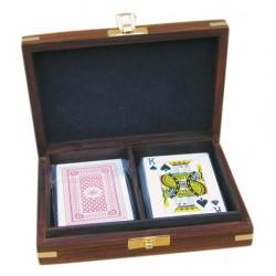 Speelkaarten in kist