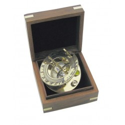 Sundial and compass in box